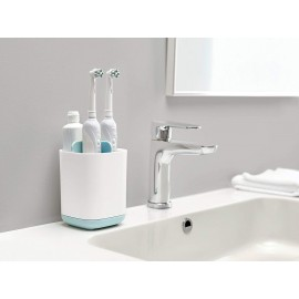 Bathroom Easy-Store Toothbrush Caddy, Detachable Toothpaste Holder Bathroom Organizer Toothbrush Toothpaste Storage Rack Easy to Wash and Natural Drying (Small)