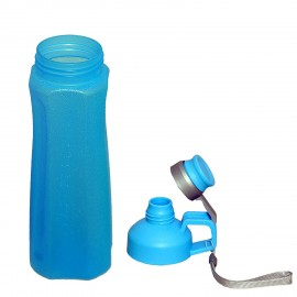 Plastic Water Bottle in Blue Color, 800 ML, Assorted