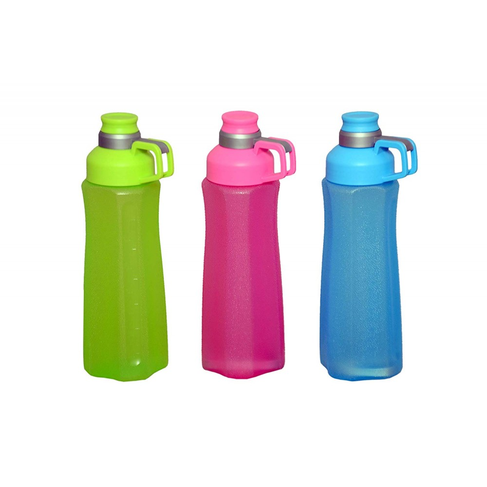 Plastic Water Bottle in Combo Color, 800 ML, Assorted