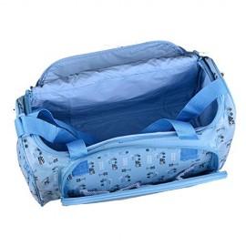 Multipurpose Baby Diaper Bag Color Blue (Bottle Cover & Mat Included)