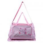 Multipurpose Baby Diaper Bag Pink (Bottle Cover & Mat Included)