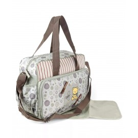 Olive Green Multipurpose Baby Diaper Bag with Changing mat