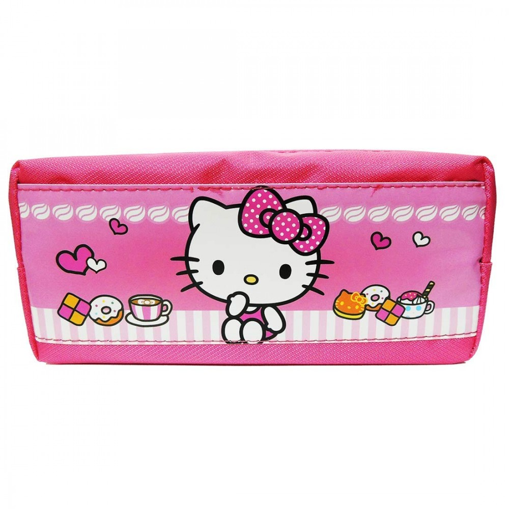 Printed Kitty Beautiful Pencil Pouch for Girls, Pink Color Pencil Pouch